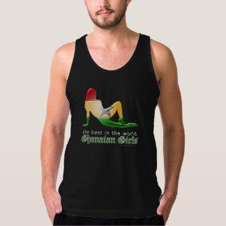 Ghanaische Mädchen-Silhouette-Flagge Tank Top