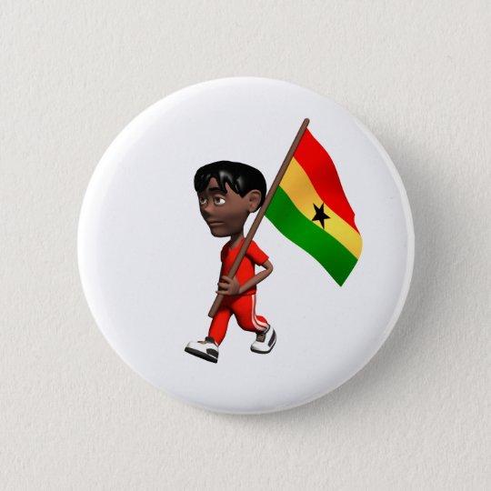 Ghanaischer Junge Runder Button 5,7 Cm