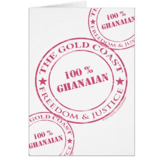 ghanaisches Rosa von 100 Prozent Karte