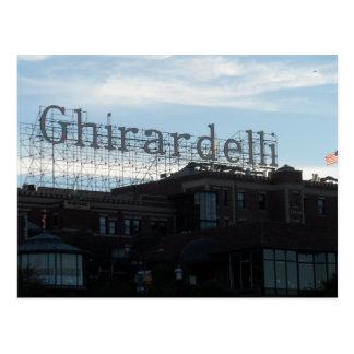 Ghirardelli quadratisches San Francisco Postkarte