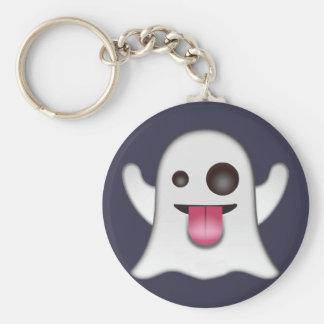 ghost_emoji standard runder schlüsselanhänger