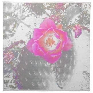 Ghosted Kaktus-Blume Serviette