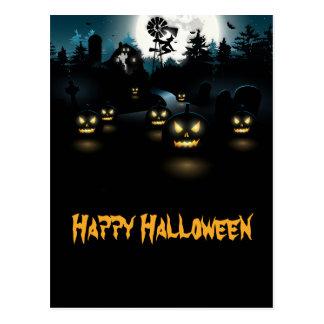 Ghoulish Halloween-Postkarte Postkarte