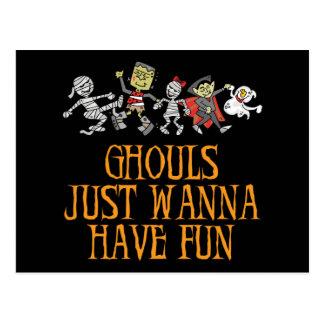Ghouls wollen gerade, um Spaß-Postkarte zu haben Postkarte