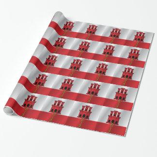Gibraltar-Flagge Einpackpapier