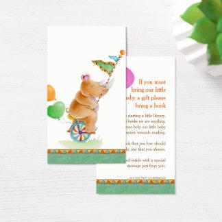 Gifting Karten des Babypartynashornkunst-Buches