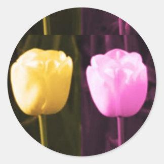 GiftPack Gruß-Aufkleber - künstlerisches Runder Aufkleber