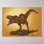 Giganotosauruscarolinii und Carnotaurus Poster