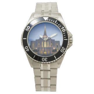 Gilbert Arizona LDS Tempel-Edelstahl-Uhr Uhr