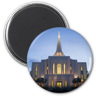 GIlbert Arizona LDS Tempel-Magnet Runder Magnet 5,1 Cm
