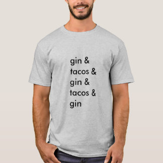 Gin- und Tacos-T - Shirt (Männer grundlegend)