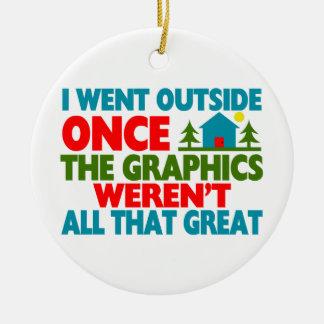 Ging außerhalb der Grafiken waren nicht groß Keramik Ornament