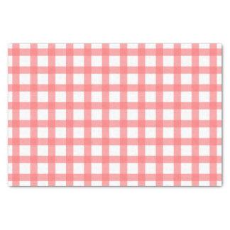 Gingham-Muster Seidenpapier