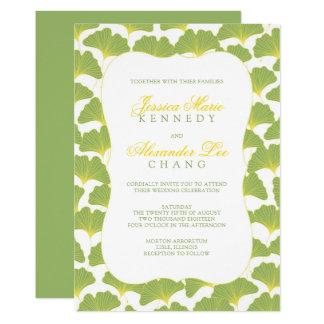 Gingko-Baum-Frühlings-Grün, das 2 wedding ist 12,7 X 17,8 Cm Einladungskarte
