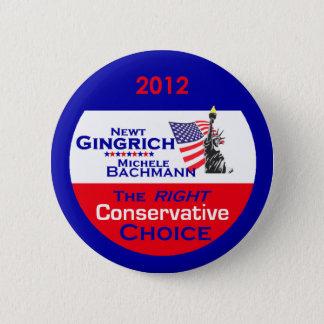 Gingrich Bachmann Knopf Runder Button 5,1 Cm