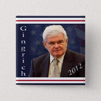 Gingrich für Präsidenten 2012 Quadratischer Button 5,1 Cm