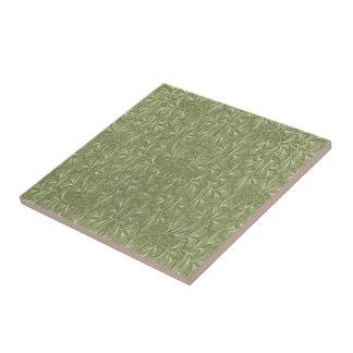 Ginkgo biloba Blätter auf weisem Grün Keramikfliese