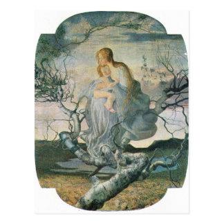 Giovanni Segantini - Lebenengel Postkarte