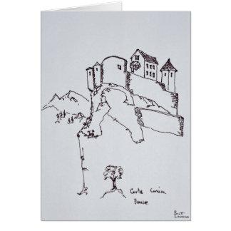 Gipfel-Festung von Corte | Korsika, Frankreich Karte