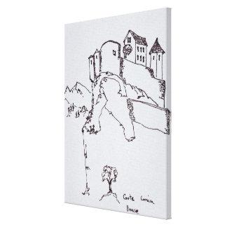 Gipfel-Festung von Corte | Korsika, Frankreich Leinwanddruck