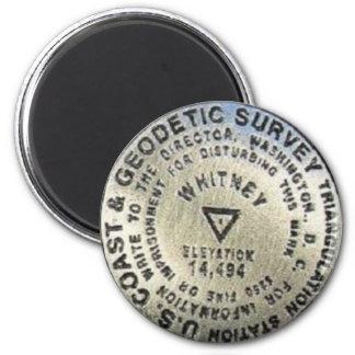 Gipfel-Markierung Mt. Whitney Runder Magnet 5,7 Cm