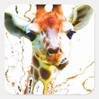 Girafe de bébé sticker carré