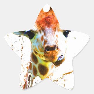 Girafe de bébé sticker étoile