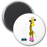 Girafe de danse aimants