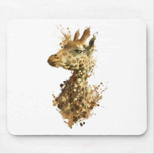 Girafe de matin tapis de souris