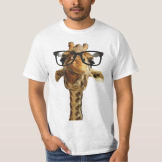 giraff T - Shirtentwurfs-Geschenkidee der Gläser T-Shirt