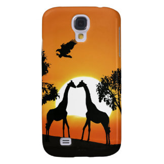 Giraffe am Sonnenuntergang Galaxy S4 Hülle