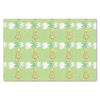 Giraffe auf grüner Geschenkverpackung Seidenpapier