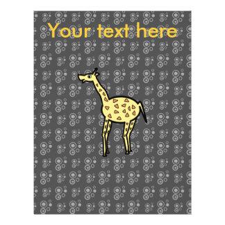 Giraffe auf schwarzem Hintergrund 21,6 X 27,9 Cm Flyer