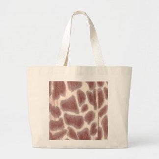 Giraffe beschmutzt Muster-Leinwand-Taschen Jumbo Stoffbeutel