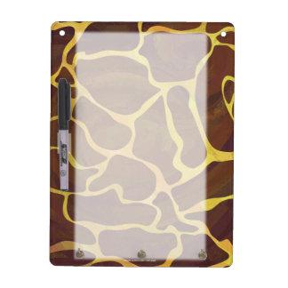 Giraffe Brown und gelber Druck Memoboard
