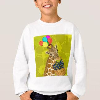 Giraffe holt Glückwünsche Sweatshirt