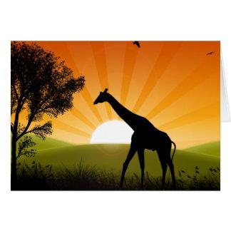 Giraffe in Bewegung Karte