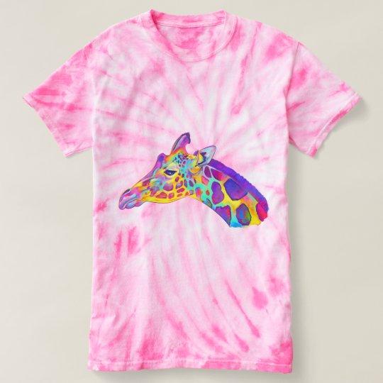 Giraffe in den Farben T-shirt
