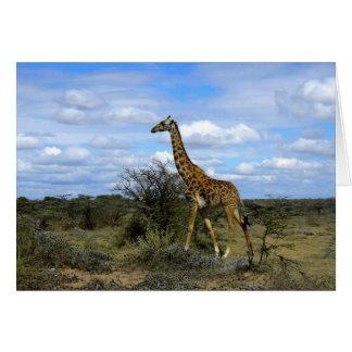 GIRAFFE IN KENIA AFRIKA KARTE