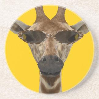 Giraffe inkognito sandstein untersetzer