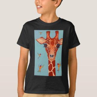 Giraffe mit Kolibris T-Shirt