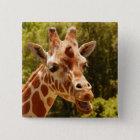 Giraffe Quadratischer Button 5,1 Cm