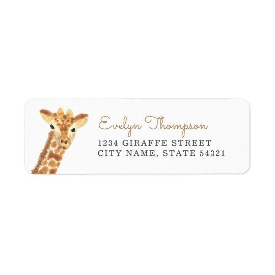 Giraffe Rücksende Aufkleber