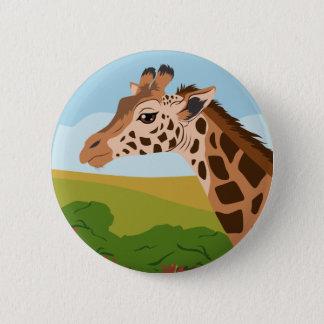 Giraffe Runder Button 5,7 Cm