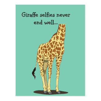 Giraffe selfies beenden nie gut… postkarte