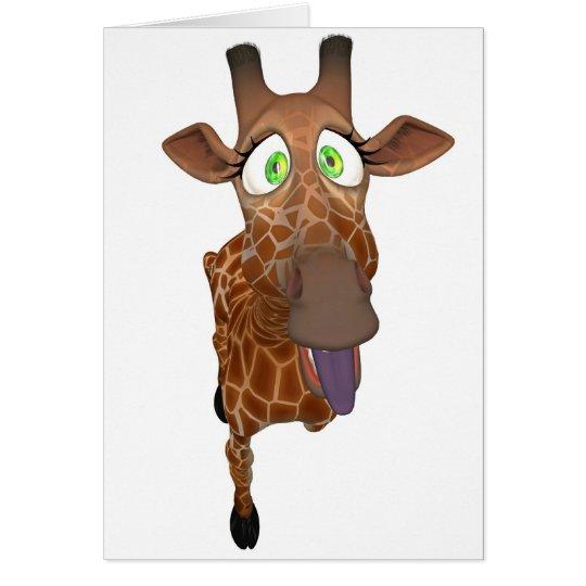 Giraffe Toon Grußkarte
