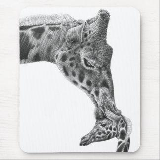 Giraffe u. Kalb Mousepad
