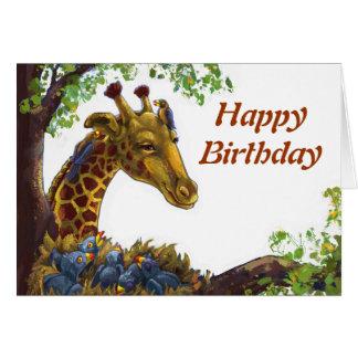 Giraffe und Oxpecker alles- Gute zum Karte