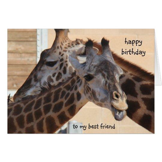 Giraffen-alles- Gute zum Geburtstagbester Freund, Karte