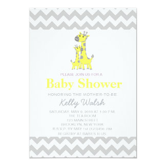 Giraffen-Baby-Duschen-Einladungen Zickzack 12,7 X 17,8 Cm Einladungskarte